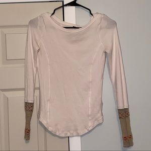 Free People Newbie Thermal Rose Cuff Top